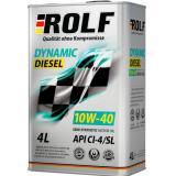 РОЛЬФ Dinamic Diesel SAE 10W40 API CI-4/SL) (нов/назв. РОЛЬФ KRAFTON P5 U 10W-40  (API CI-4/SL) 4л