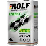 РОЛЬФ Energy SAE 10w-40 SL/CF (полусинт) 4л (4шт)